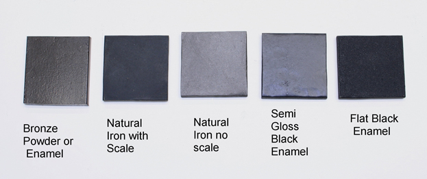Finishes for Cast Iron products.